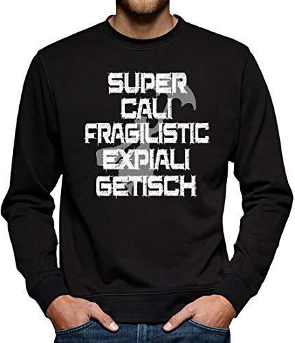 Mary Supercalifragiliticexpialigetisch Poppins Sweatshirt Pullover Herren L Schwarz