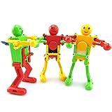 Brain Game Gowsch - Juego de 3 piezas de plástico al azar para bebé, juguete para bailar, robot, figura modelo de primavera para niños, regalos coloridos