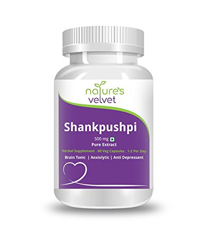 Natures Velvet Lifecare Shankpushpi Pure Extract 500 mg, 60 Veggie Capsules - Pack of 1
