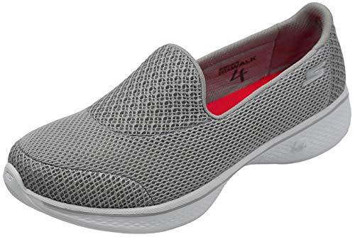 Skechers Women's Go Walk 4 Propel Walking Shoe, Light Grey, 8 M US
