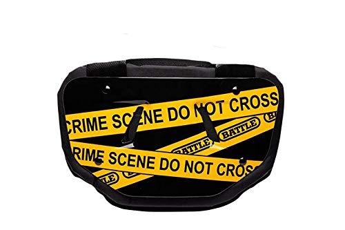 """Battle """"Crime Scene Chrome Football Back Plate - Adult"""