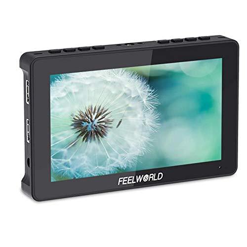 FEELWORLD F5 Pro - Monitor de campo para cámara DSLR de 5,5 pulgadas, pantalla táctil IPS FHD1920x1080 4K, salida HDMI, brazo inclinable, salida de potencia F970