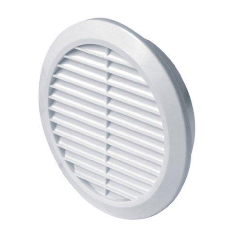 Lüftungsgitter Ø 150 mm 15 cm rund weiß Kunststoff Insektennetz Abluftgitter Zuluft Abluft Gitter Lüftung T 23
