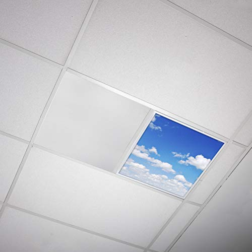 Octo Lights - Fluorescent Light Covers - 2x2 Flexible Ceiling Light Diffuser Panels - Decorative Clouds - for Classrooms and Offices - 011