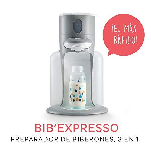BEABA Bib'Expresso Preparador de Biberones 3 en 1, Gris
