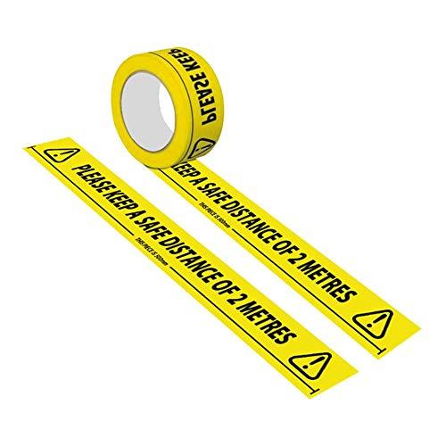 Nrkin Gefahr Warnung Absperrband,Boden Markierungsband Absperrband Sicherheitsband, Warnband Selbstklebend Signalklebeband,PVC Wasserdichtes Und Verschleißfestes Warnband