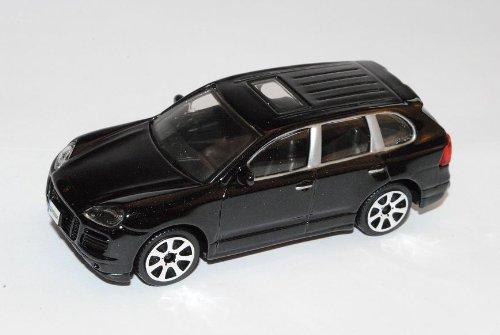 Porsche Cayenne Turbo Schwarz 1. Generation 2002-2010 1/43 Bburago Modell Auto mit individiuellem Wunschkennzeichen