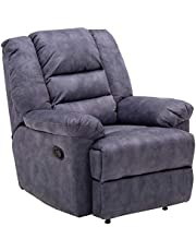 Zoy Leamon Fabric Recliner, Blue, H77 x W87 x D90 cm