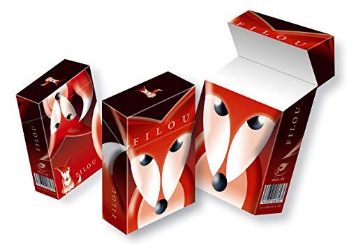 Zigarettenschachtel Box mit Motiv Design Fuchs/Fox slipp overall ZIGARETTENSCHACHTEL ÜBERZIEHER/Hülle Komplettüberzieher mit Deckel (066 Fox, 3 Stück)
