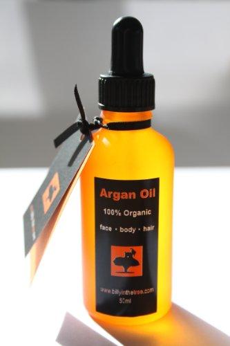 Pure Huile d'argan 100% bio. 50 ml. pour visage, corps, cheveux.
