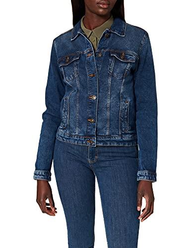 Springfield Chaqueta Vaquera Algodón Orgánico, Azul Medio, S para Mujer