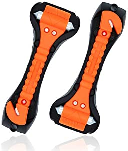 CARTO Set Emergency Escape Tools Hammers with Integrated Seatbelt Cutter Prepared for Any Emergency  7 2 3 7 cm Important Tool for Dangerous Situations Window Hammer for the Car