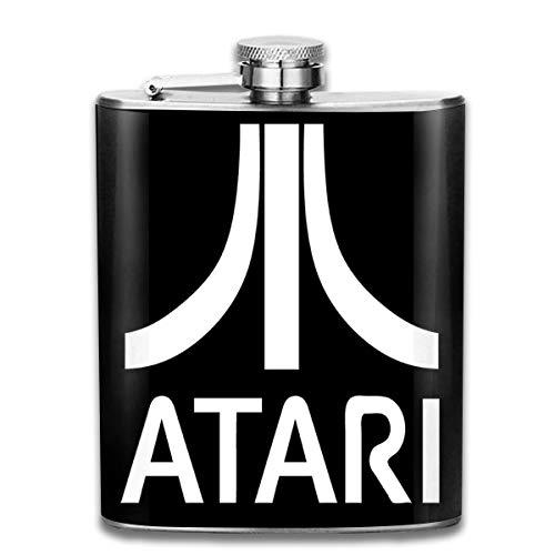 Atari - Petaca de bolsillo con logotipo para videojuegos, diseño de flagón...