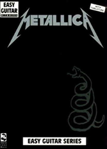 Metallica Black Book Easy Guitar With Riffs: Noten für Gitarre (Play It Like It Is)