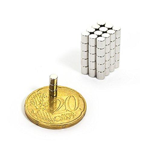 Oblique-Unique 20 Mini Magnete, ultrastark - 3x3mm - NEODYM - Das Original