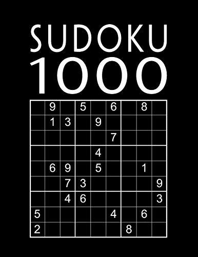 Sudoku Para Adultos: 1000 Sudokus de nivel fácil a muy difícil   Juego de lógica   Libro de pasatiempos para adultos   Fácil - medio - difícil - experto   Con soluciones
