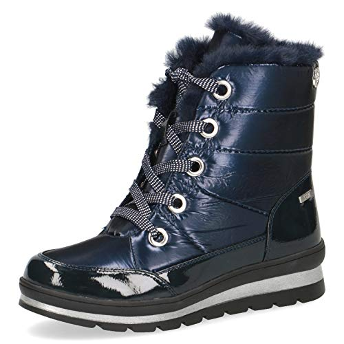 CAPRICE Damen Stiefel, Frauen Winterstiefel,lose Einlage, leger Winter-Boots Fellstiefel gefüttert warm weiblich,Ocean Comb,38.5 EU / 5.5 UK