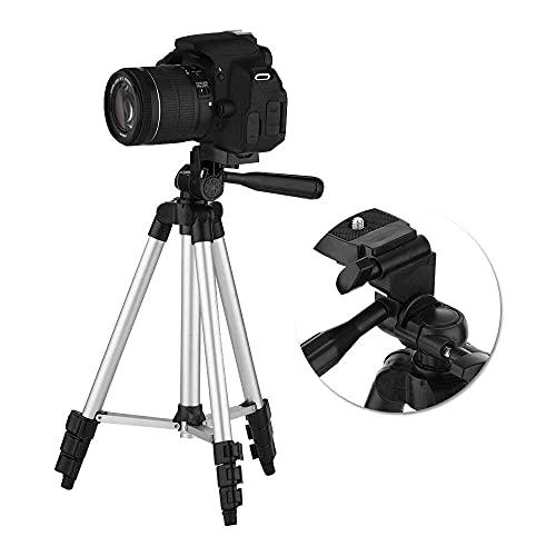 Yuyanshop Trípode de cámara, profesional plegable de escritorio de 4 secciones, soporte de trípode telescópico para cámara y teléfono móvil