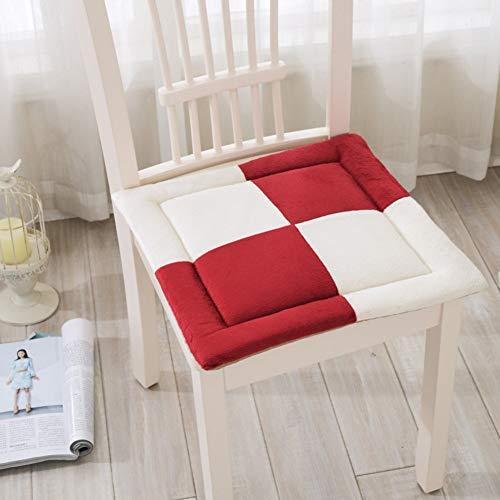 Kussen voor bureaustoelen, studententapijt, zitbank, klaskamer, stoelkussen voor eettafel, dikke kussens voor winterstoel, kussen voor computerstoel, C, 40 x 40 cm (16 x 16 inch)
