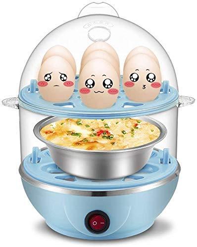 3-in-1 elektrische eierkoker, eierkoker, een knop schakelaar, automatische uitschakeling, koken tot 14 eieren, seasy koken QIANGQIANG