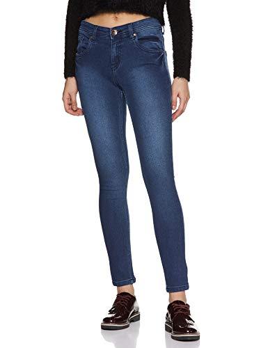 Distrito Urbano Women's Slim Fit Jeans (DUWDCOR025_Blue_32)