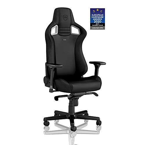 noblechairs Epic Gaming Chair - Office Chair - Desk Chair - PU Faux Leather - 265 lbs - 135° Reclinable - Lumbar Support Cushion - Racing Seat Design - Black/Red