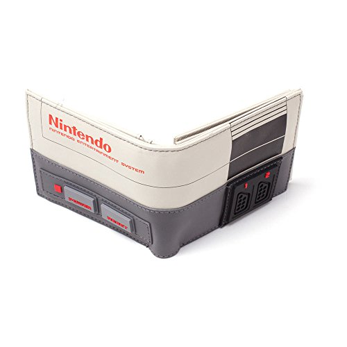 Nintendo NES Console Bi-Fold Wallet, Multi-Colour (Mw270709Ntn) Coin Pouch, 16 cm, Grey