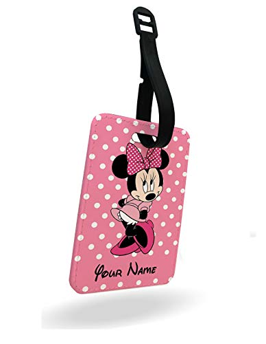 Lovely Minnie Mouse Disney Luggage Tag and Strap with Rear Part Printed