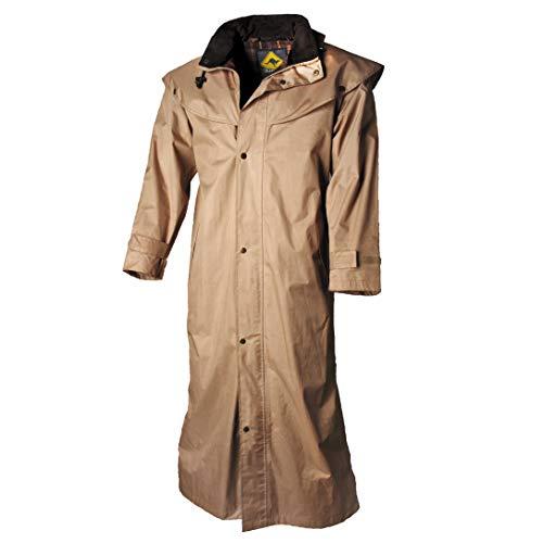 SCIPPIS Stockman Coat - Cappotto impermeabile o da equitazione in stile western per cowboys Biker o Australia beige. XS