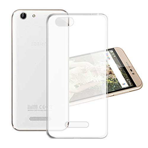 HHUAN Funda para Cubot Note S Semi-Transparente Cover Ultrafino Suave Silicone Clear Caso de Protección Anti-Rasguño TPU Bumper Carcasa Case para Cubot Note S (5.5')