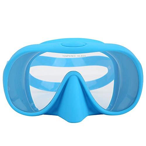 Aigend Schwimmbrille, Silikon-Antibeschlag-Schwimmbrille Faltbare tragbare Schutzbrille aus gehärtetem Glas DM-408