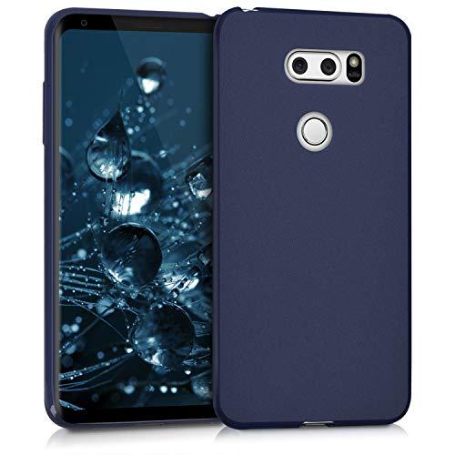 kwmobile Cover Compatibile con LG V30 / V30S / V30+ / V30S+ - Cover Custodia in Silicone TPU - Backcover Protezione Posteriore - Blu Scuro Matt