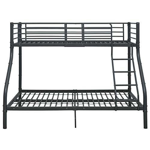 Lasamot Frame van metaal, zwart, voor stapelbed, moderne slaapkamer, praktisch stapelbed, 90 x 200 cm en onderste bed 140 x 200 cm