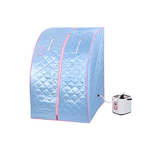 GC Global Direct 2l Portable Steam Sauna Tent SPA Detox Weight Loss w/Chair (Blue)