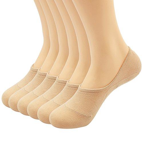 Women's 3-9 Pairs Casual Thin No Show Socks Non Slip Flat Boat Line