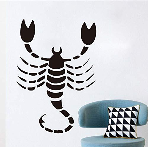 Skorpion Sternzeichen Wandaufkleber Kinderzimmer Wanddekoration Pinzette Vinyl Abnehmbare Poster Wandkunst Applique Aufkleber Wohnkultur 44x63 cm