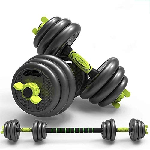 N/Z Home Equipment Adjustable Dumbbell Gym Bicep Weight Training Barbell Combination Detachable Rubber Coated Cast Iron Dumbbell Pair Dumbbells