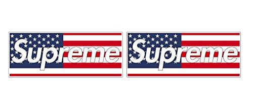 USA U.S. America Fahne Flag Army Aufkleber Sticker / Plus Schlüsselringanhänger aus Kokosnuss-Schale / Auto Motorrad Notebook Koffer Skateboard Snowboard Tuning Racing Motorsport (3 Aufkleber 15x6cm)