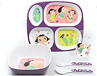 5 Piece Childrens Melamine Gift Set Doll Girl