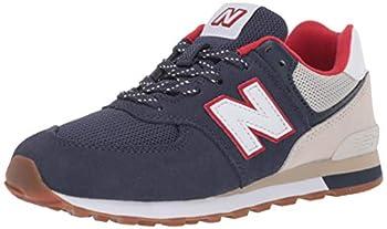 New Balance 574 V1 Sport Lace-Up Sneaker Nb Moonbeam/Navy 11 Wide US Unisex Little_Kid