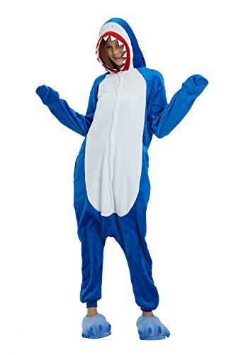 Tickos Animal Onesies Novedad Tiburón Mono Pijama Unisexo Adulto Pijama Disfraz de Cosplay de Halloween Disfraces (Tiburón, Medium)