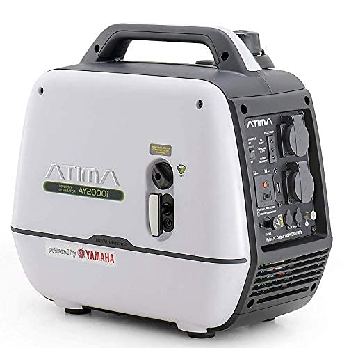 ATIMA Tragbarer 2000W Stromerzeuger leise Benzin Stromgenerator, Stromaggregat, Mit Yamaha Motor Stromaggregat, AY2000i