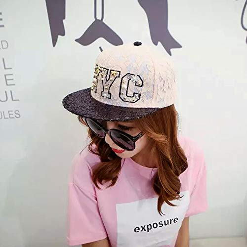 wopiaol New Korean Embroidery NYC Sunshade Baseball Cap Female Daisy Beaded Duck Tongue Hat Korean Trend