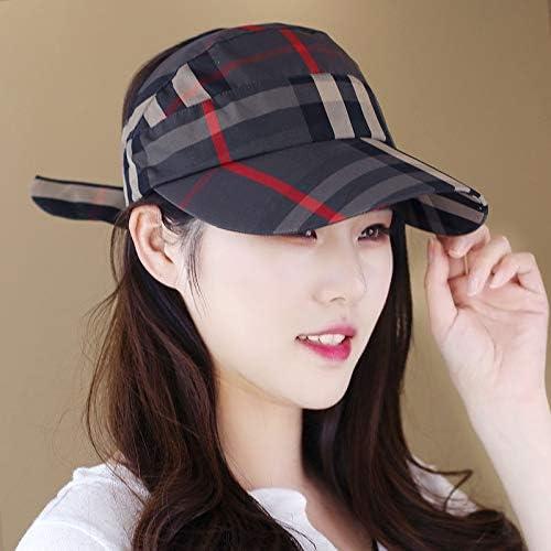 Vory Hat Plaid Hood Sunscreen Cap Cap Striped Casual hat Men's and Women's Universal Empty top caps