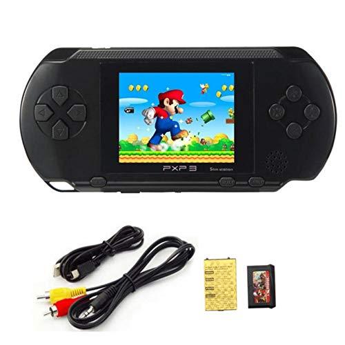 OEIGCI Console de Jeux Portable pour Enfants Adultes Construit avec 16bit Éducation Jeux Classiques Vidéo, Plug & Play et Consoles Système 2.7 'LCD Big Écran d'Anniversaire et Cadeau de Noël (Noir)