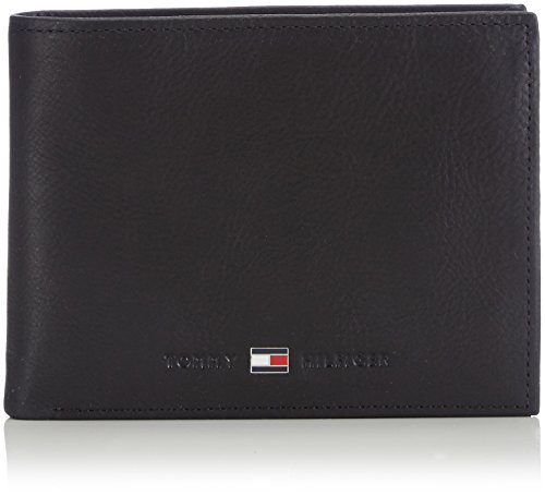 Tommy Hilfiger Johnson CC and Coin Pocket, Cartera para Hombre, Black, OS