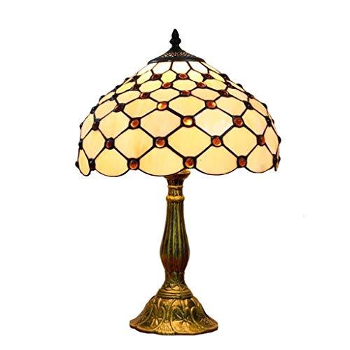 Beautiful lighting city/Tiffany Simple Creative Rétro Couleur Lampe De Table En Verre Bar Restaurant Club House Chambre Lampe De Chevet 12 Pouces