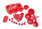 Conform Home - Set di 27 stampi in silicone, senza BPA, per muffin, cupcake, siringa da pasticcere, spatola, tazze e cucchiai dosatori
