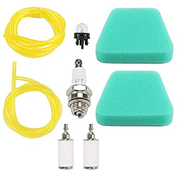 Mckin  Pack of 2  Air Filter + Primer Bulb Fuel Filter Line fits McCulloch MAC 3200 3516 3214 3216 Eager Beaver 2014 Chainsaw