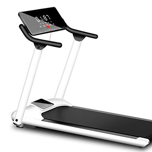 DIDIAN Laufband,Elektrische Klappbar Led-anzeige Laufband,Bluetooth Gehen Ausgeführte Maschine,Indoor Cardio Fitness Laufband-Weiß. 46x22x46zoll